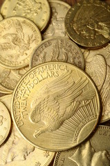 Gold american coins