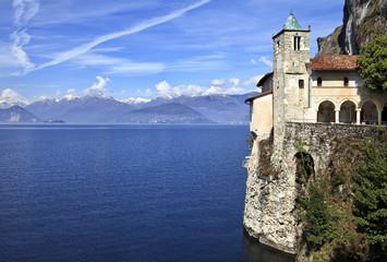 Santa Caterina del Sasso Hermitage on Lake Maggiore