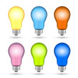 Vector Illustration of Colorful Loght Bulbs
