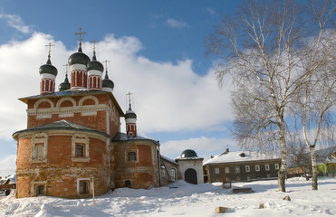 The old church at the monastery. Uglich. Russia