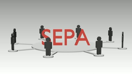 SEPA Netzwerk Animation, schleifbar