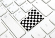 Gran Prix motor race Finish chess flag concept button or key