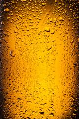 Drops on a bottle beer.