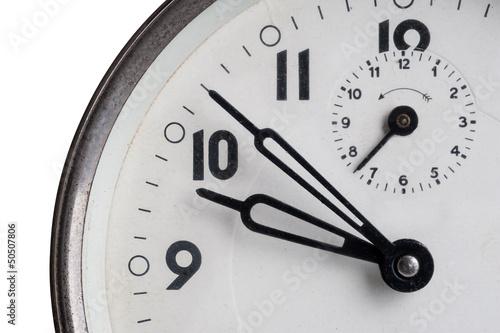 Old Alarm Clock close up.