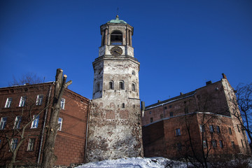 Bell tower of the old cathedral in Vyborg