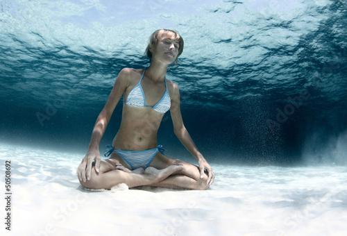 Yoga underwater