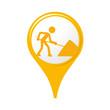 icône, symbole, logo, travaux
