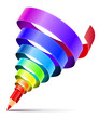 creative art pencil design concept with spiral of color