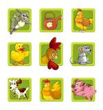 The illustration of farm element - animals