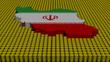 Iran map flag with oil barrels illustration