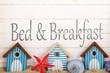 Leinwandbild Motiv Bed and breakfast