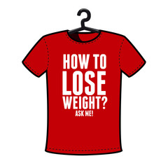 Graphic T-shirt design- How to lose weight?