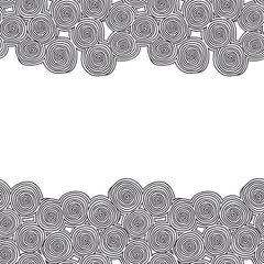 Seamless borders with spirals