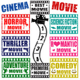 Movie genres stamps