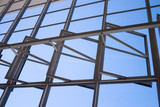 Bauhaus Dessau windows detail from inside poster