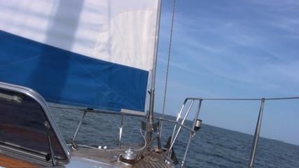 Staysail, sea, sky