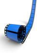 Blanko Filmrolle Blau 05