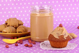 Delicious peanut butter with cookies