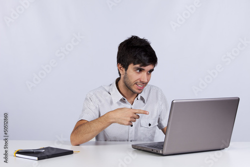 Modern businessman working at his office