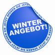 3D Aufkleber - Winter Angebot! blau 2