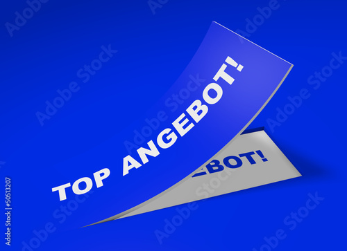 3D Etikett Blau - Top Angebot!