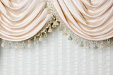 Scalloped curtains detail
