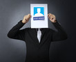 handing social network business card over