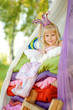 """girl lies on a bed. the fairy tale """"the princess on a pea"""""""