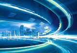 Fototapety Abstract Illustration of urban highway speed motion