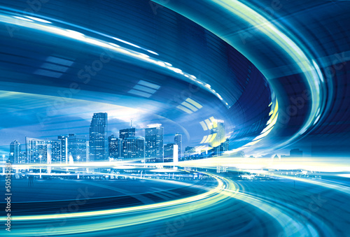 Abstract Illustration of urban highway speed motion