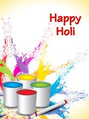 colorful background design for Indian festival Holi.