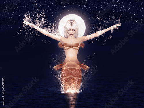Poster Zeemeermin Jumping mermaid