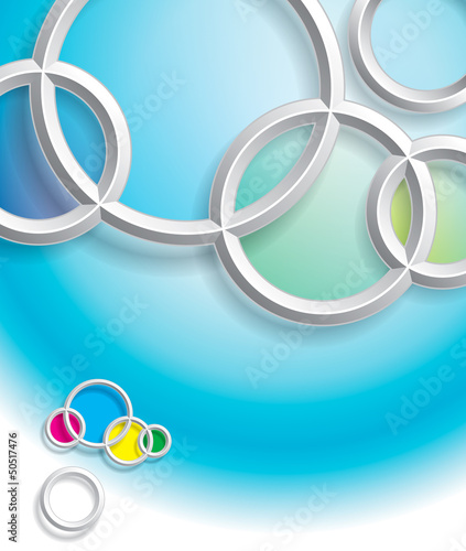 Abstract circles background with shadow.