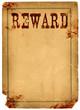 Blood Stained Reward Poster 1800s Wild West