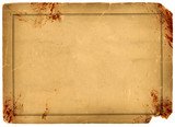 Blood Stained Antique Parchment Paper