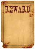 Blood Stained Reward Poster 1800s Wild West