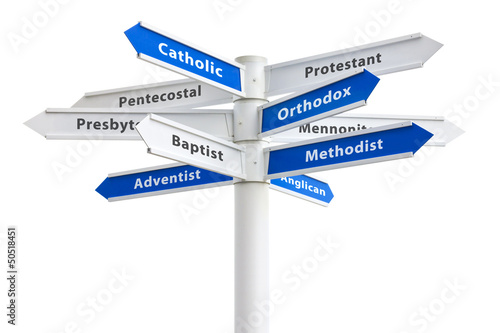 Christian Religions Sign