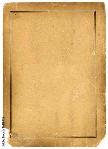 1800s Antique Parchment Paper Background Texture Poster