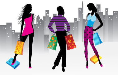 Women on shopping
