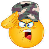 Soldier saluting emoticon