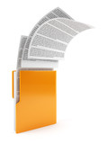 Computer folder with documents