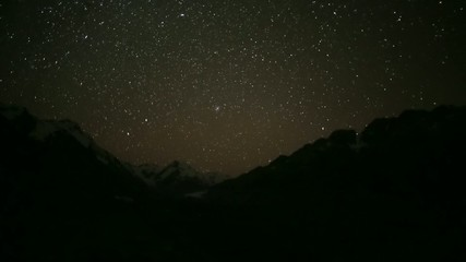 Tasman Glacier Valley Timelapse Night