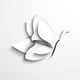 White paper butterfly