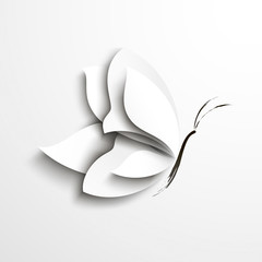 White paper butterfly © megapixelina