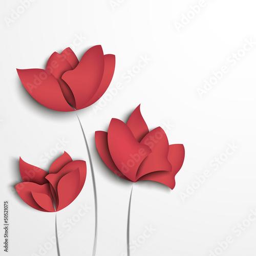 Fototapeta Pink paper flowers