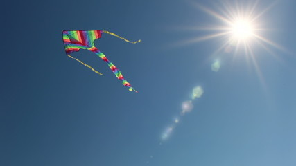 Kite and the sun