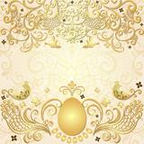Gold easter vintage frame