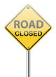 Road closed traffic sign