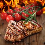 Fototapety gegrilltes Steak vom Rind