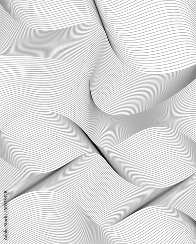 curvy lines, stylish abstract background © HAKKI ARSLAN